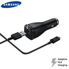 A genuine Samsung adaptive fast car charger and USB-C charging cable for your USB-C compatible Samsung Galaxy phones. Incredibly stylish and fast, this charger is a must have, thanks to its sleek design and super fast charging rates.