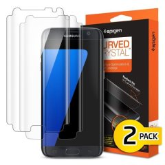 Provides superb clarity and protection for the Samsung Galaxy S7 Edge. This twin pack of Film Crystal Screen Protectors provide a strong defence for your screen against scratches, bumps and knocks and is designed for full edge to edge protection.