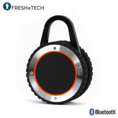 Enjoy powerful, crisp music no matter what you're doing or the weather with the ultra-rugged portable outdoor speaker from FRESHeTECH. This highly durable, waterproof speaker is ideal for outdoor use, providing exceptional sound in extreme conditions.