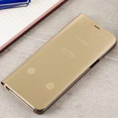 Official Samsung Galaxy S8 Clear View Cover Case in Gold