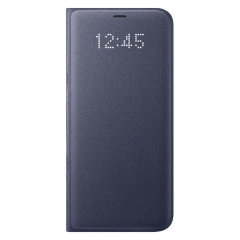 Protégez la face arrière, les côtés ainsi que l'écran de votre Samsung Galaxy S8 tout en gardant un œil sur vos notifications à travers l'écran LED avec cette Flip Wallet Cover (housse portefeuille) officielle Samsung.