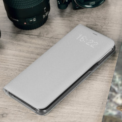 LED Flip Wallet Cover Officielle Samsung Galaxy S8 - Argent