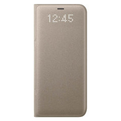 Funda Samsung Galaxy S8 Plus Oficial LED Flip Wallet - Oro