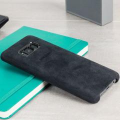 Proteja su Samsung Galaxy S8 Plus con esta funda Oficial Alcántara. Elegante y protectora, esta carcasa es el accesorio perfecto para su S8 Plus.