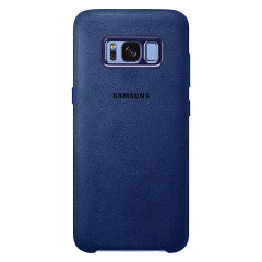 Official Samsung Galaxy S8 Plus Alcantara Cover Case - Blau