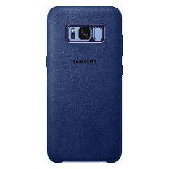 Official Samsung Galaxy S8 Plus Alcantara Cover Case - Blau