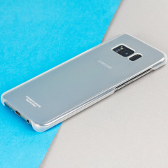 Offizielle Samsung Galaxy S8 Plus Clear Cover Case - Silber