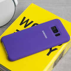 Official Samsung Galaxy S8 Plus Silicone Cover Case - Violett