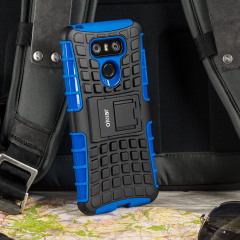 Protect your LG G6 from bumps and scrapes with this blue ArmourDillo case. Comprised of an inner TPU case and an outer impact-resistant exoskeleton, the ArmourDillo not only offers sturdy and robust protection, but also a sleek modern styling.