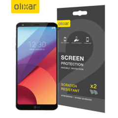 Keep your LG G6's screen in pristine condition with this Olixar scratch-resistant screen protector 2-in-1 pack. Ultra responsive and easy to apply, these screen protectors are the ideal way to keep your display looking brand new.
