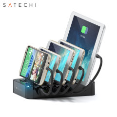 Satechi 5 Port USB Charging Station Dock For Phones & Tablets - Black