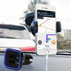 Olixar DriveTime iPhone 7 Kfz Halter & Lade Pack