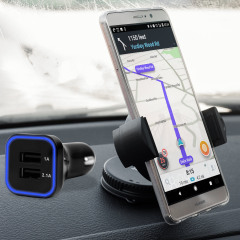 Hold your phone safely in your car with this fully adjustable DriveTime car holder for your Huawei Mate 9 Lite.