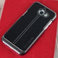 VRS Design Simpli Mod Leder-Style Samsung Galaxy A3 2017 Tasche - Schwarz