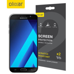 Keep your Samsung Galaxy A7 2017 screen in pristine condition with this Olixar scratch-resistant screen protector 2-in-1 pack.