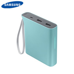 This official 10,200mAh power bank from Samsung in blue is the perfect way to keep your smartphone or tablet charged while out and about. Extremely lightweight and completely universal, this really is the ideal travel companion.