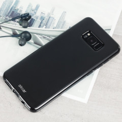 Custom moulded for the Samsung Galaxy S8, this solid black FlexiShield case by Olixar provides slim fitting and durable protection against damage.