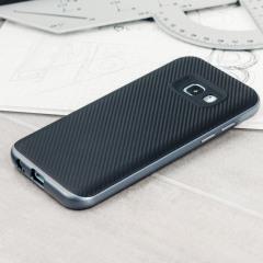 Olixar X-Duo Samsung Galaxy A3 2017 Case - Carbon Fibre Metallic Grey
