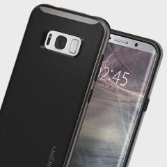 La coque Spigen Neo Hybrid est ultra légère et très protectrice. Grâce à sa technologie à coussins d'air, la coque est moins épaisse sur les bords du Samsung Galaxy S8 tout en procurant une protection optimale.