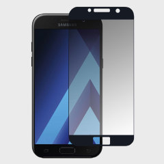 This ultra-thin full cover curved tempered glass screen protector for the Samsung Galaxy A5 2017 from Olixar offers toughness, high visibility and sensitivity all in one package. Features complete edge to edge screen protection for black phones.