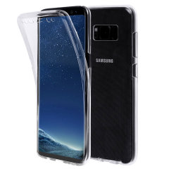 Olixar FlexiCover Complete Protection Samsung Galaxy S8 Gel Case Hülle in Klar