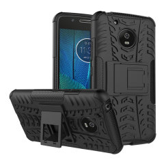 Protect your Moto G5 from bumps and scrapes with this black ArmourDillo case. Comprised of an inner TPU case and an outer impact-resistant exoskeleton, the Armourdillo not only offers sturdy and robust protection, but also a sleek modern styling.