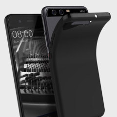 Custom moulded for the Huawei P10, this solid black Olixar FlexiShield case provides slim fitting and durable protection against damage.