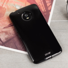 Custom moulded for the Motorola Moto G5 Plus this solid black FlexiShield case by Olixar provides slim fitting and durable protection against damage.