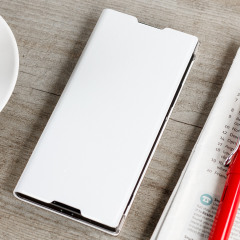 This high quality official bi-fold folio case from Sony houses your Xperia XA1 smartphone, providing protection and access to your ports and features while incorporating a built-in viewing stand - in white.