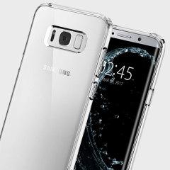 Custodia Ultra Hybrid Spigen per Samsung Galaxy S8 Plus - Trasparente