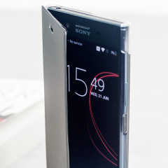 "The Roxfit Pro Touch Book Case in black / clear houses your Xperia XZ Premium, providing protection, while Roxfit's touch-sensitive material allows you to view and interact with your screen while the case is closed. Part of the ""Made for Xperia"" program."
