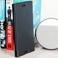 This officially licensed black premium book case by Roxfit houses the Sony Xperia XZ Premium within a form fitting frame, crafted from an ultra-high quality slim shell and featuring a super-slim PU front flap. Also features a convenient inner card slot.
