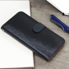 Hansmare Calf LG G6 Wallet Case - Navy Blue