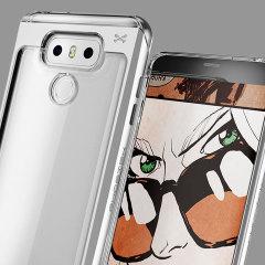 Ghostek Cloak 2 Series LG G6 Aluminium Tough Case - Clear / Silver