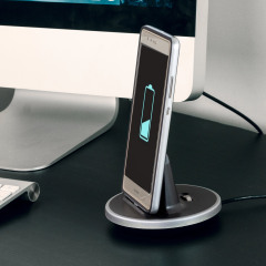 Synchronise and charge your Huawei P9 with this stylish and case compatible desktop dock which also acts as a multimedia stand. Supports USB-C (USB Type-C).