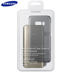 Protect your Samsung Galaxy S8 Plus from scrapes, scratches and knocks while making sure you've always got enough power with this official Starter Kit from Samsung. Comes complete with a clear cover, screen protector and battery pack.