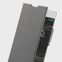 "This officially licensed black minimalist book case by Roxfit houses the Sony Xperia XA1 Ultra within a form-fitting frame, crafted from a slim clear shell and featuring a super-slim PU front flap. Part of the ""Made for Xperia"" program."