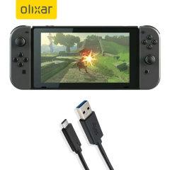 Assurez-vous de pouvoir maintenir chargé votre Nintendo Switch à tout moment à l'aide de câble de chargement USB 3.0 mâle vers USB-C 3.1 (USB Type-C) mâle. Vous pourrez parfaitement utiliser ce câble de chargement sur un adaptateur secteur doté d'un port USB.