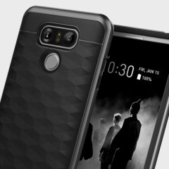 Protect your LG G6 with this stunning premium dual-layered shell case in black. Made with tough dual-layered yet slim material, this hardshell body with a sleek metallic bumper features an attractive two-tone finish.