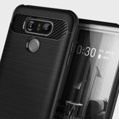 Protect your LG G6 with this stunning rugged dual-layered shell case in matte black. Made with tough dual-layered yet slim material, this TPU body with a sleek metallic outer layer features an attractive two-tone finish.