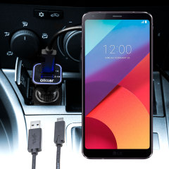 Keep your LG G6 fully charged on the road with this compatible Olixar high power dual USB 3.1A Car Charger with an included high quality USB to USB-C charging cable.