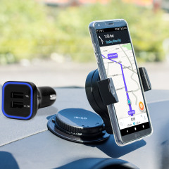 Essential items you need for your smartphone during a car journey all within the Olixar DriveTime In-Car Pack. Featuring a robust one-handed phone car mount and car charger with an additional USB port for your LG G6.