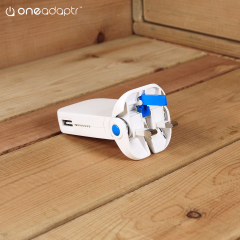 The Flip Quad from OneAdaptr offers comprehensive power in a portable package. This foldable UK mains plug features 4x USB ports with a shared 5A maximum output - perfect for charging smartphones, tablets and any other USB-powered device.
