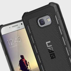 La coque UAG (Urban Armor Gear) Outback Protective en coloris noir pour Samsung Galaxy A5 2017 est dotée d'une structure interne en TPU et d'un revêtement supérieur anti-dérapant. A la fois mince et robuste, la coque UAG Outback est une solution idéale pour protéger avec élégance et efficacité votre Samsung Galaxy A5 2017.