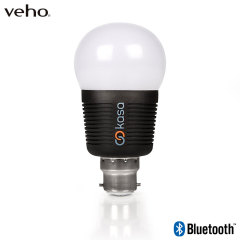 Far from ordinary, the Veho Kasa Bluetooth LED bulb is a fully dedicated, fully equipped smart accessory. With 16 million dimmable colours, full automation and an immense life expectancy, this is the ideal smart lighting solution. B22 bayonet fitting.