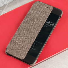 Official Huawei P10 Plus Smart View Flip Case - Brown