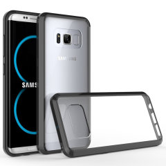 Custom moulded for the Samsung Galaxy S8. This clear and black Olixar ExoShield tough case provides a slim fitting stylish design and reinforced corner shock protection against damage, keeping your device looking great at all times.