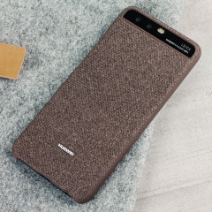 Original Huawei P10 Plus Fabric Hülle in Braun
