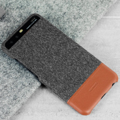 Official Huawei Mashup P10 Plus Fabric / Leather Case - Dark Grey
