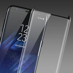 Olixar Full Cover Tempered Glas Samsung Galaxy S8 Plus Displayschutz (Fall kompatibel) - Schwarz